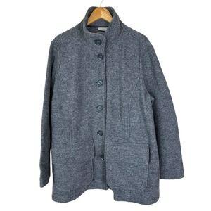 Llbean Womens 2XL Wool Button Coat Bellandi Made in Italy Capsule Piece